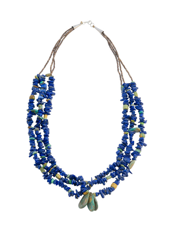 Indianen ketting van lapis lazuli en turkoois