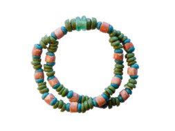 Ghanese groene armband met bauxiet kralen
