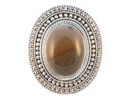 Nepalese zilveren ring met sardonyx