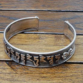 Tibetaanse zilveren armband met mantra