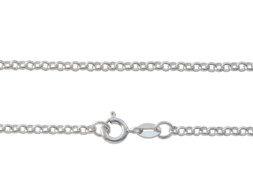 Zilveren ketting met jasseron schakel