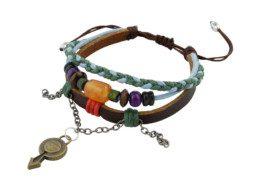 Tibetaanse leren armband met symbool van man