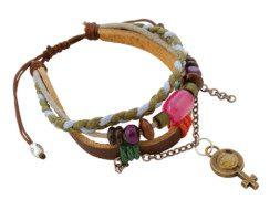 Tibetaanse leren armband met symbool van de vrouw