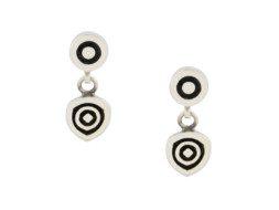 Mexicaans zilveren oorbellen met geoxideerde details