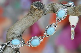 Zilveren armband met turkoois