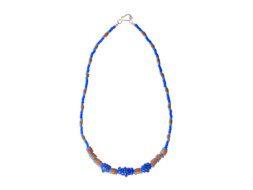 Ghanese blauwe ketting met bauxiet kralen