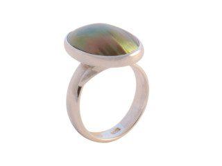 Balinese ring met mabe parel