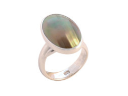 Balinese ring met mabe parel