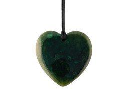 Groene jade hartvormige hanger