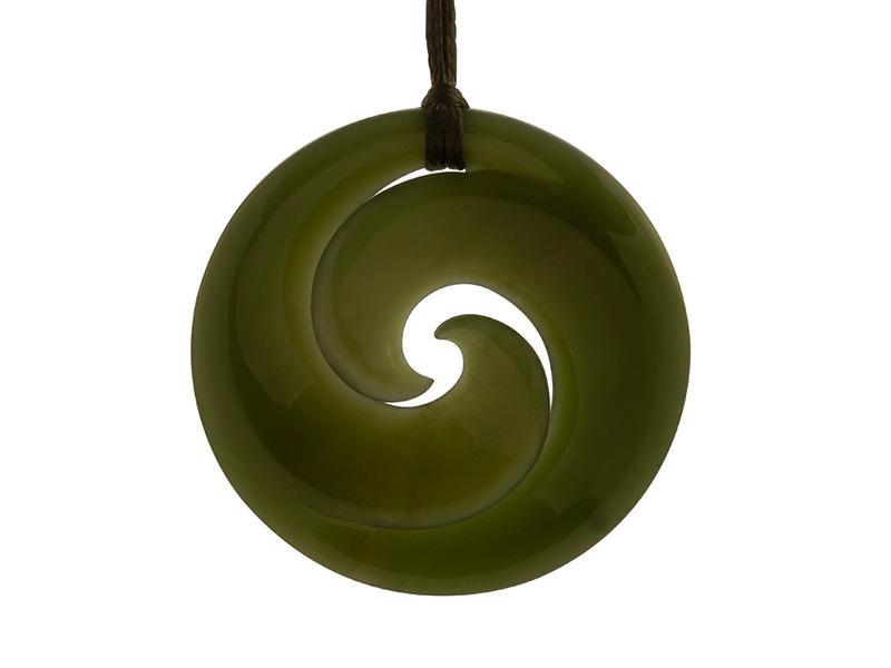 Jade koru maori hanger uit Nieuw Zeeland