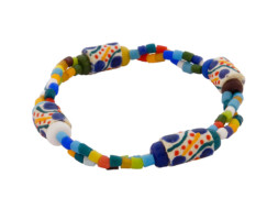 Ghanese kralen regenboog armband