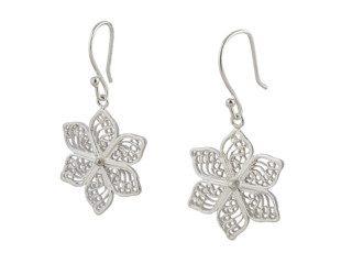 Fijne zilveren filigrain oorbellen uit Peru in bloemvorm