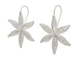Peruaans zilveren filigrain oorbellen in bloemvorm