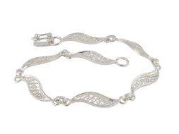 Peruaanse zilveren filigrain schakelarmband