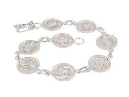 Zilveren filigrain armband uit Peru met yin yang