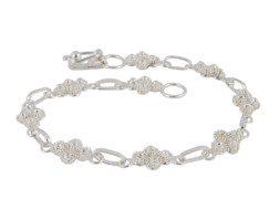 Zilveren filigrain armband uit Peru met fijne bloemknopjes