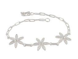 Zilveren filigrain armband uit Peru met fijne bloesems
