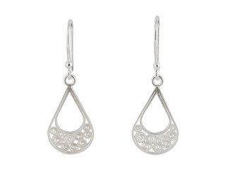 Zilveren filigrain oorbellen uit Peru in druppelvorm