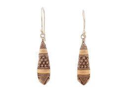 Balinese zilveren oorbellen met 18 karaats goud accenten