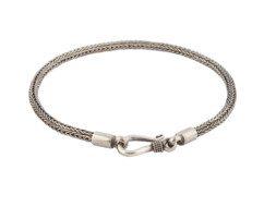 Balinese zilveren armband met slangenschakel