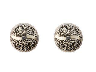 Balinese zilveren oorbellen met fijne granulatie