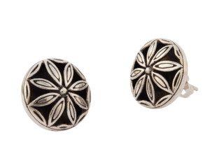 Balinese zilveren oorknopjes met bloemdesign