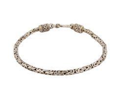Balinese zilveren schakelarmband