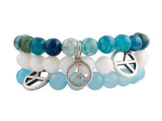 Tibetaanse kralen armbanden met vredessymbool