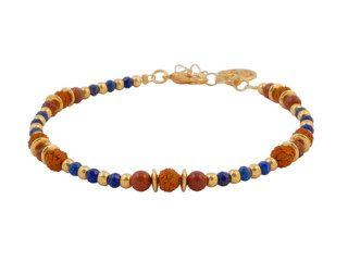 Armband met lapis lazuli en rode jaspis