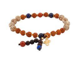 Armband met rudraksha en bodhi kralen