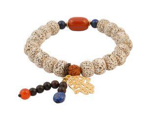Bodhi kralen armband met rode jaspis en lapis lazuli