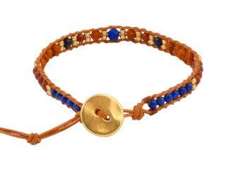 Wrap armband met rudraksha, lapis lazuli en jaspis