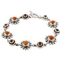 Zilveren armband met koraal